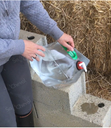 Bidon à eau pliable de 10 litres
